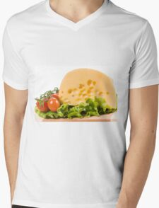 cherry tomatoes and yellow cheese Mens V-Neck T-Shirt