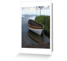 small wooden boat Greeting Card