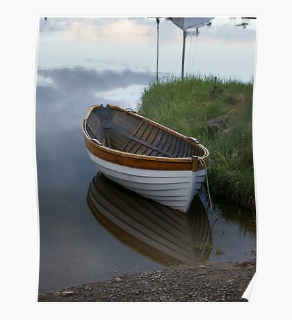 small wooden boat Poster