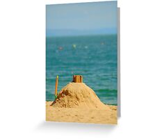 Sand Castle, Tenby, South Wales. uk. Greeting Card