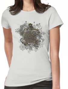 The Steampunk Owl Womens Fitted T-Shirt
