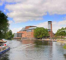 RSC Theatre, River Avon, Stratford Upon Avon, by PhillipJones