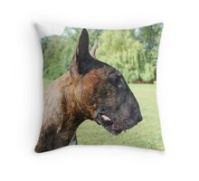 Kenny Bull Terrier Throw Pillow