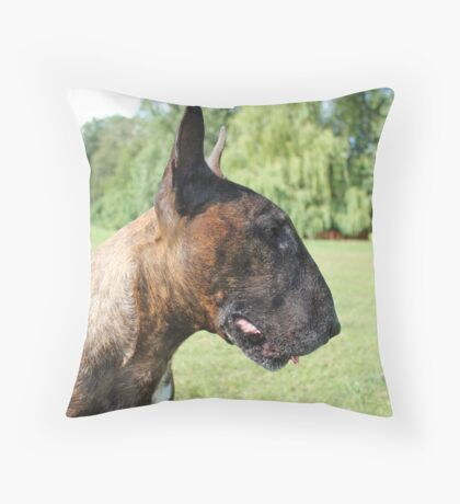 Kenny Bull Terrier Throw Pillow