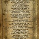 "Desiderata ""desired things"", on parchment-look background by Irisangel"