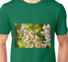 Aesculus flowers on green Unisex T-Shirt