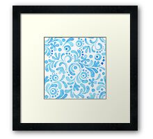 Abstract floral watercolor pattern.  Framed Print