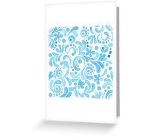 Abstract floral watercolor pattern.  Greeting Card