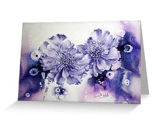 Wacky Scabious Greeting Card