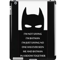 Batman Quotes iPad Case/Skin