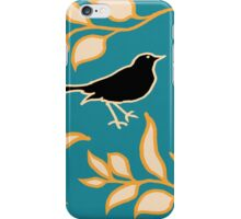 Ode to a Blackbird (Light Blue) iPhone Case/Skin