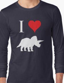 I Love Dinosaurs - Triceratops (white design) T-Shirt