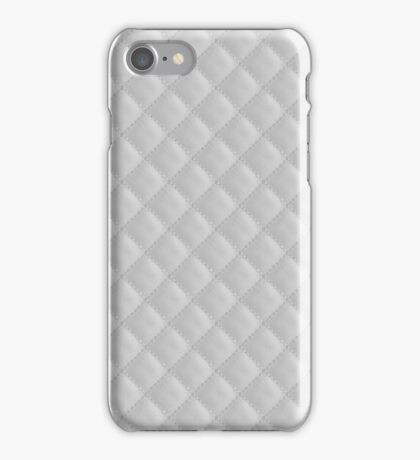 Winter Ice White Quilt iPhone Case/Skin
