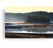 morning on the mountain lake Canvas Print