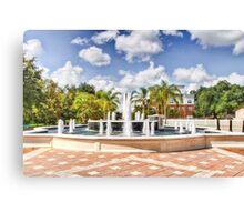 Fountain HDR Canvas Print
