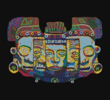 Mayan Mask of Death and Rebirth 2011 as tshirt by karmym