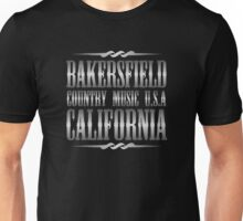 Silver Bakersfield Country Unisex T-Shirt