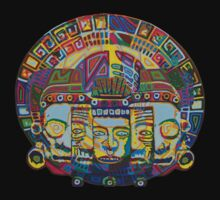 Mayan Wheel with Mask of Death and Rebirth 2011 as tshirt by karmym