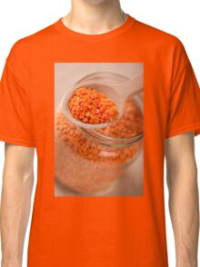 Portion of red lentils on wooden spoon Classic T-Shirt