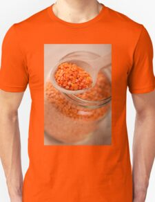 Portion of red lentils on wooden spoon T-Shirt