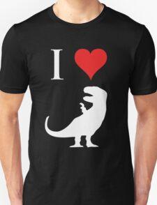 I Love Dinosaurs - T-Rex (white design) T-Shirt