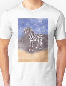 Christmas zebra vector Unisex T-Shirt