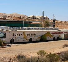 The Long Bus, Andamooka, South Australia by DashTravels