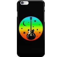 Colorful Guitar,Moon,Stars iPhone Case/Skin