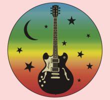 Colorful Guitar,Moon,Stars Baby Tee