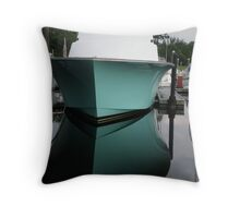 Reflection of a Boat Throw Pillow