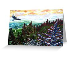 'View from Grandfather Mountaln' Greeting Card