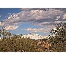Four Peaks from Lost Dutchman State Park Photographic Print
