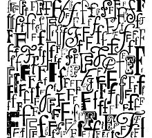 The Letter F Photographic Print