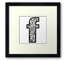 Small Letter f, white background Framed Print