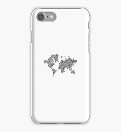 World Map Hand drawn iPhone Case/Skin