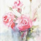 soft pink roses dreaming away by aquaarte