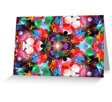 Three Layer Guinea Pig Abstract  (UF0412) Greeting Card