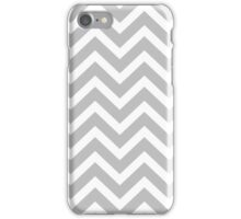 Christmas Silver and White Christmas Chevron iPhone Case/Skin