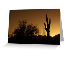 South Mountain Towers At Sunset Greeting Card