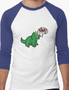 Triceratops Men's Baseball ¾ T-Shirt
