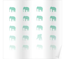 Mint Elephants Poster