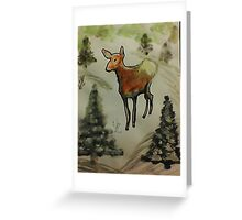 First season  on my own!  watercolor Greeting Card