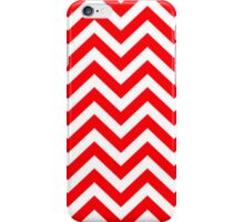 Red & White Christmas Chevron iPhone Case/Skin