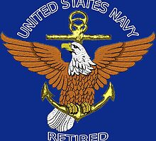 US Navy Eagle Anchor Retired by henrytheartist