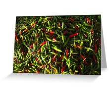 SPICY CHILIES Greeting Card