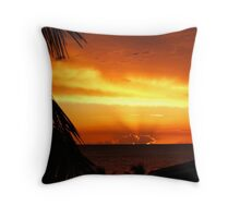 Caribbean Sky and Sea Scape Throw Pillow