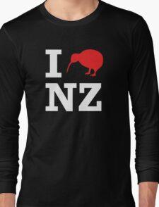 I Love New Zealand (Kiwi) white design Long Sleeve T-Shirt