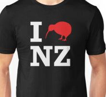 I Love New Zealand (Kiwi) white design Unisex T-Shirt