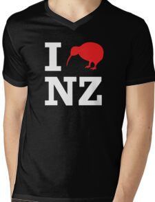 I Love New Zealand (Kiwi) white design Mens V-Neck T-Shirt