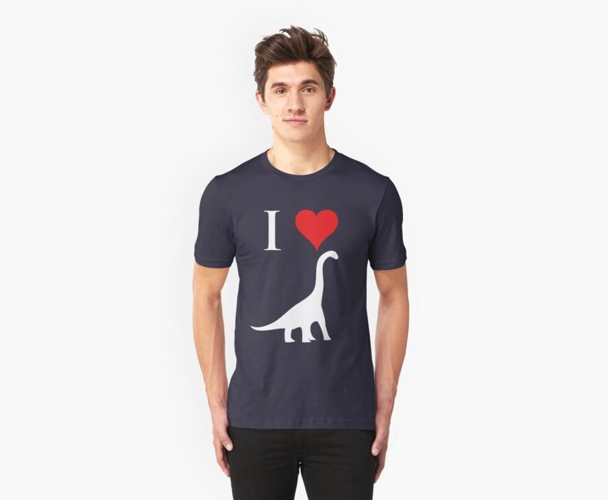 I Love Dinosaurs - Brachiosaurus (white design) by jezkemp
